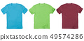 Set of t-shirt solated on white background. 49574286
