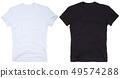 Set of t-shirt solated on white background. 49574288