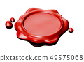 Wax seal red 49575068