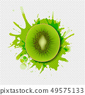 Kiwi Fruits With Paint Transparent Background 49575133