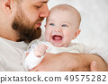 father, child, baby 49575282