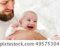 father, child, baby 49575304