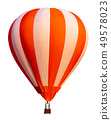 Hot air balloon isolated on white background. 49578023