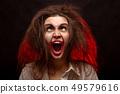 crazy girl screaming 49579616