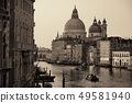 Venice Grand Canal sunrise and boat 49581940