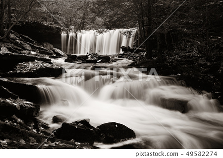 Waterfalls in black and white 49582274