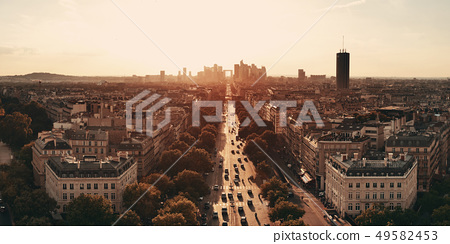 Paris rooftop view 49582453