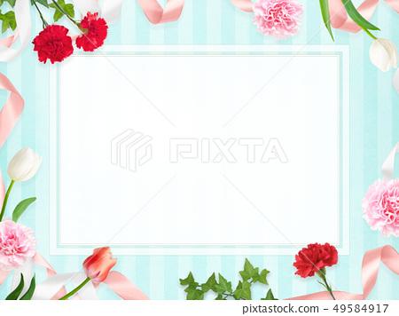 배경 - 카네이션 - 어머니 날 - 블루 - 스트라이프 - 메시지 카드 49584917