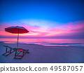 Sunrise with dramatic morning sky over sea. 49587057