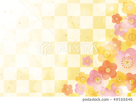 梅花花卉圖案日式框架 49588846