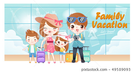 family travel happily 49589093