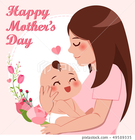 happy mothers day greeting card 49589335