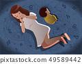 postpartum depression concept 49589442