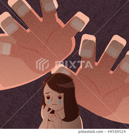 upset and depressed woman 49589524