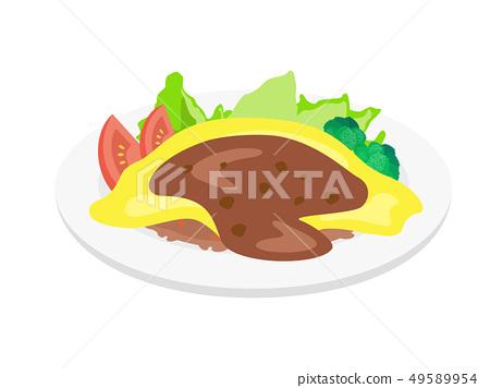 Omelette rice 49589954