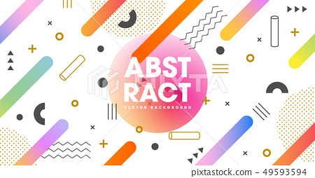 Colorful geometric abstract template background. 49593594