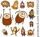 원숭이 캐릭터 아저씨 정장 체조 49594012
