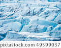 Blue glacier closeup 49599037