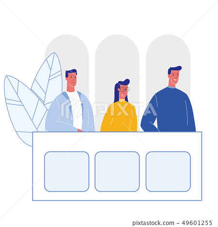 Jury Trial, Courtroom Cartoon Vector Illustration 49601255