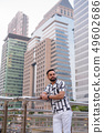 Young bearded Indian man thinking against view of the city 49602686