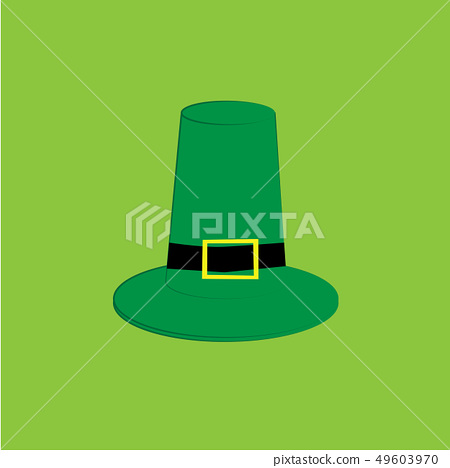 Hat on the green background 49603970