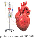 Intravenous therapy system with human heart 49605060
