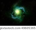 Stars, dust and gas nebula in a far galaxy 49605365