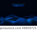 Technology Background with Connecting Particles 49609725