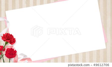 배경 - 카네이션 - 어머니 날 - 베이지 - 스트라이프 - 메시지 카드 49612706