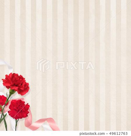 배경 - 카네이션 - 어머니 날 - 베이지 - 스트라이프 49612763
