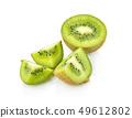 Kiwi  slice isolated on white background 49612802