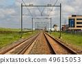 Railway tracks straight section 49615053