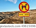Dogs forbidden without leash in Iceland 49615096