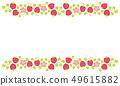 딸기 프레임 봄 꽃 소재 일러스트 49615882