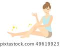 ผู้หญิงกำลังดูแลผิวสำหรับขา 02 49619923