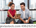 Young Couple are Using Tablet and Spending Time 49620259