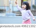 เด็กวัยหัดเดินเล่นข้างนอก 49621302