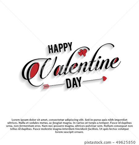Happy Valentine's day card typographic 49625850