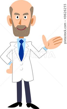 Men in white coat to guide 49626255