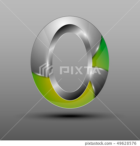Isolated vector 3d logo. 49628576