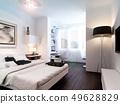 Interior modern bedroom 49628829