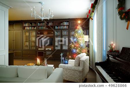 Christmas living room 49628866