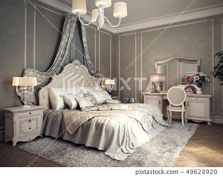 Classic bedroom interior 49628920