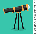 telescope vector flat design 49629067