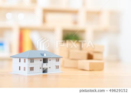 移動圖像房屋抵押房地產圖像微型模型房子 49629152