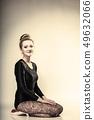 Graceful woman ballet dancer full length 49632066