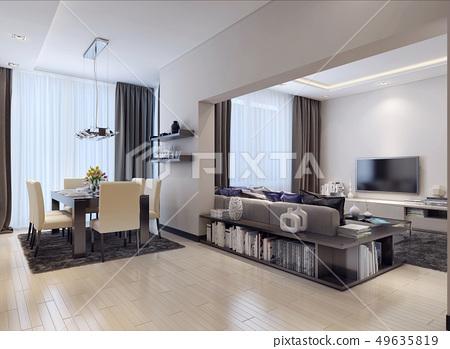 Studio apartment modern style 49635819