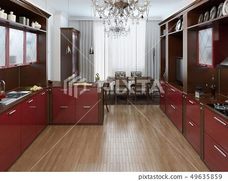 Kitchen In The Art Deco Style Stock Illustration 49635859 Pixta