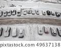 车 冰冻的 道路 49637138