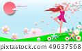 Dancing girl among the flowers 1 49637568